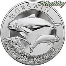Poland 2004 silver 20 zl Morświn Harbor Porpoise Marsouin Pets Tiere Animals