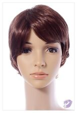 REDDISH BROWN MIX SHORT LAYERED STYLE LADIES HAIR WIG FASION COSTUMES