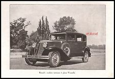 Publicité Automobile Renault Vivastella  car vintage photo  ad  1924 -1j