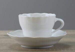 Hutschenreuther Maria Theresia weiß weiss Kaffeetasse mit Untertasse o. Spiegel