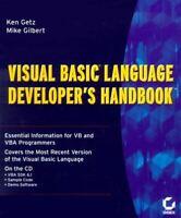 Visual Basic Language Developer's Handbook Getz, Ken and Gilbert, Mike