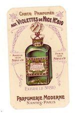 CARTE PARFUMEE CALENDRIER  AUX VIOLETTES DE NICE N°810 PARFUMERIE NANTES PARIS