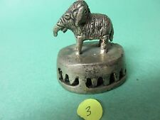 Vintage Brass small elephant Shape Foot Scrubber from India bell  (3)