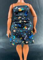 Luna Lovegood Doll Cocktail Dress Black Fits LOL OMG Doll Moon Stars Print