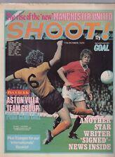 (-0-) RARE SHOOT! FOOTBALL ASTON VILLA TEAM POSTER 11TH OCTOBER 1975 COMIC