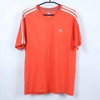 ADIDAS CLIMALITE Mens Orange Crew Neck Short Sleeve Top T Shirt SIZE Medium, M
