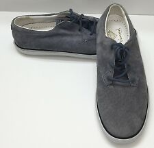 Diamond Supply Men US 8.5 Low Cut Blue Gray Suede Fashion Sneaker Shoe Skater