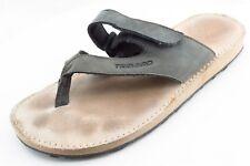 Tribord Flip Flops Gray Leather Women Shoes Size 7 Medium (B, M)