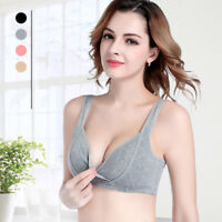 Women Pregnant Cotton Breast Feeding Maternity Bra Sleep Nursing Underwear Vest