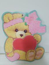 Vintage Eureka Diecut Valentine Die Cut Cute Little Teddy Bear Wall Decor Usa