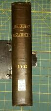 1903 51st Annual Report MASSACHUSETTS State Board of Agriculture 16th Hatch Expt