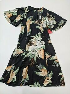 AX PARIS Floral Printed Flutter Sleeve Midi Dress - SIZE UK 16