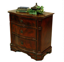 Heritage Mahogany Traditional 3 Drawer Dovetailed Nightstand