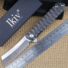 Japan Combat Military Tactical Folder Knife Defence Tanto Point Blade bearring