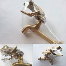 SET Tap Faucet Garden Sink Basin Spigot Big Frog Figurine Vintage Home Decor
