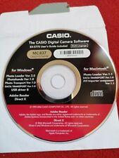 Casio Ex-S770 Cd Rom treiber camera software Windows Mac 2006 MC 837