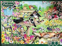 Falcon De Luxe Spring Garden Birds 500 Piece Jigsaw Puzzle Claire Comerford