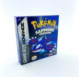 GameBoy Advance Pokemon Sapphire - Reproduced Replacement Box