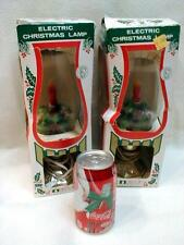 PAIR of Vintage Christmas Hurricane Lamps Lights ACLA Electric ORIGINAL BOX