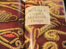NEW IDEAS IN GOLDWORK EMBROIDERY~Tracy Franklin~basic to advanced techniques