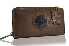 Portefeuille Portafoglio Pelle Marrone Leather Wallet Brown Geldbörsen Braun Lio