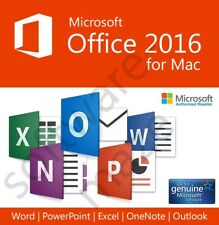 Microsoft Office 2016 For Mac Home & Business - 5 PC Users - IMMEDIATE DELIVERY!