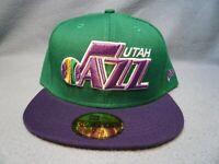 New Era 59fifty Utah Jazz Throwback Logo Sz 7 5/8 BRAND NEW Fitted cap hat