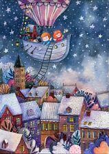 Wooden Jigsaw puzzle Christmas stories (80 pcs.) Artist Yana Fefelova