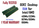 1GB 2GB DDR2 1066MHz 800Mhz 667MHz PC2-6400 PC2-5300 8500  Desktop RAM Memory