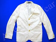 New Ralph Lauren Polo 100% Cotton Crisp White Sport Coat Jacket SLIM 44 R