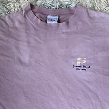 Badger Vintage 90s Large Faded Purple T Shirt Burnt Distressed Summit Point Race