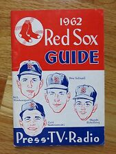 1962 RED SOX Press Media Guide CARL YASTRZEMSKI BILL MONBOUQUETTE DON SCHWALL