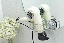 Hair Dryer Holders Rack Holder Bath Hanger Dual Vacuum Compression Super Suction