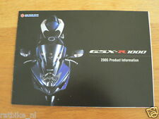 HAP-244 SUZUKI BROCHURE GSX-R1000 2005 PRODUCTINFORMATION ENGLISH 18 PAGES