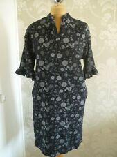 NEXT black print dress size 16