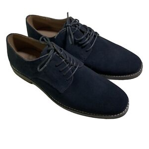 Banana Republic Mens Navy Blue Suede Leather Oxford Shoes Size 11 New w/o Box