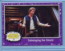 2017 Topps The Last Jedi Card Sabotaging the Shield #38 Purple Starfield INV0111