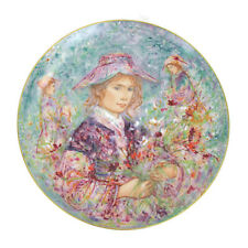 Edna Hibel Flower Girl Of Provence Commemorative Hutschenreuther Plate 13""