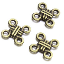 100pcs Retro Antique Bronze Alloy Chinese Knot Charms Fit Connectors Pendants J