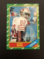 1986 Topps Jerry Rice #161 NM- Near Mint- Rookie Card 49ers RC