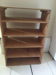 Rustic small ply wood shelf shelves homemade used mini plywood