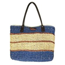 Philippines Woven Striped Large Straw Tote Purse