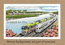 FL SEABOARD AIR LINE RAILROAD SILVER METEOR STAT PASSING  DEPOT  STATION