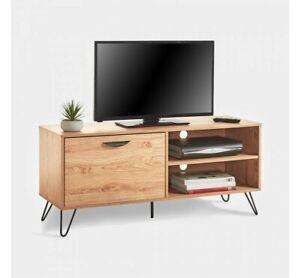 Contemporary TV Unit Oak Effect Living Room TV Stand