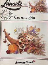 Lanarte Cross Stitch Kit, Cornucopia Lovely Autumnal Design