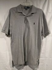 Polo Ralph Lauren Men's Polo Dress Shirt Size M Medium Golf Gray Short Sleeve