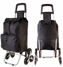 Shopping Trolley 6 Wheel Stair Climber Folding Black Festival Wheeled Travel Bag