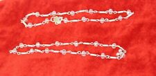 Payal Silver Anklet Indian Jewelry Ankle Tone 2 Chain Fashion Bollywood New Pair