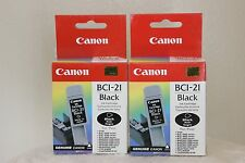 Genuine Canon BCI-21 2/Pack Black Ink Cartridge NEW