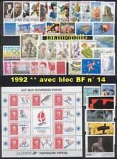 France Année 1992 complète NEUFS ** LUXE avec BF 14